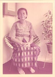 Grandma Jane Bristow sitting