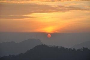 Sunset at Sun Moon Lake in Taiwan